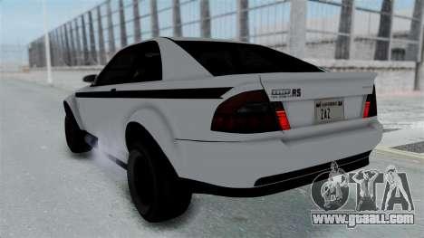 GTA 5 Karin Sultan RS Stock PJ for GTA San Andreas inner view