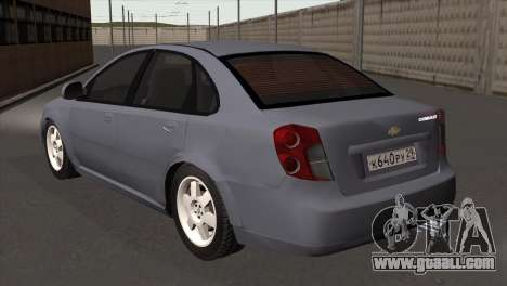 Chevrolet Lacetti Sedan for GTA San Andreas left view
