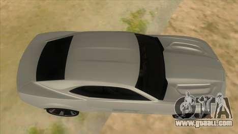 Chevrolet Camaro DOSH tuning MQ for GTA San Andreas inner view