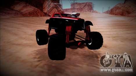 GTA 5 Hotknife Monster Truck for GTA San Andreas inner view