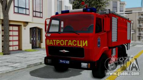 FAP Serbian Fire Truck for GTA San Andreas