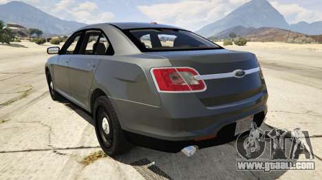 GTA 5 Ford Taurus rear left side view