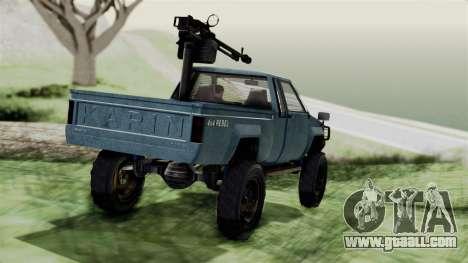 GTA 5 Karin Technical Machinegun IVF for GTA San Andreas left view