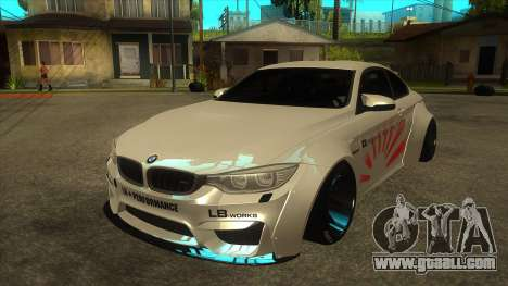 BMW M4 Liberty Walk Performance for GTA San Andreas