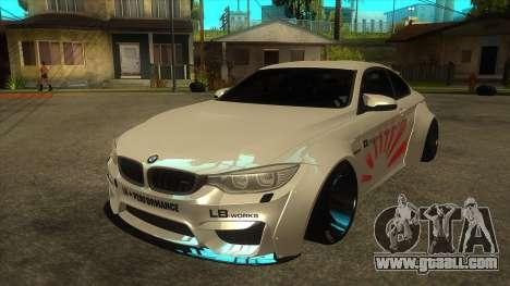 BMW M4 Liberty Walk Performance for GTA San Andreas