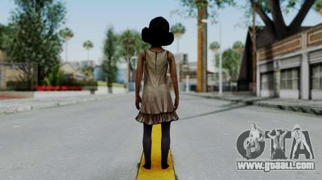 Clementine from The Walking Dead for GTA San Andreas third screenshot