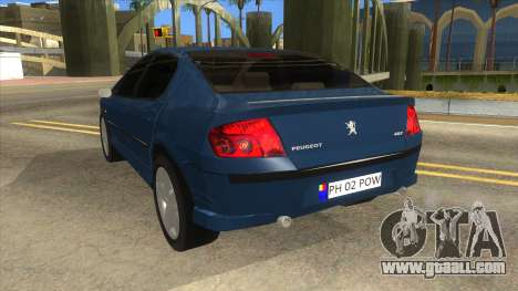 Peugeot 407 for GTA San Andreas back left view