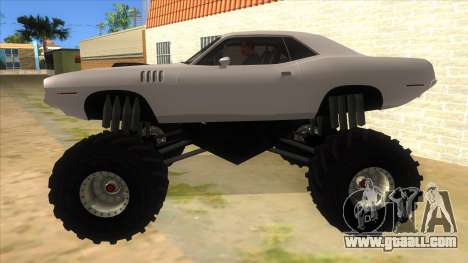 1971 Plymouth Hemi Cuda Monster Truck for GTA San Andreas left view