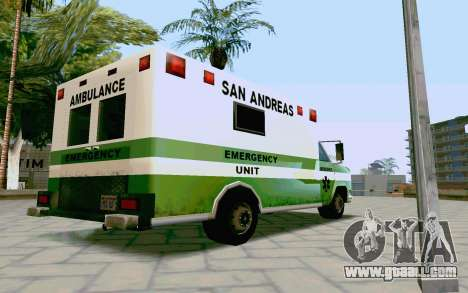 Journey Ambulance for GTA San Andreas left view