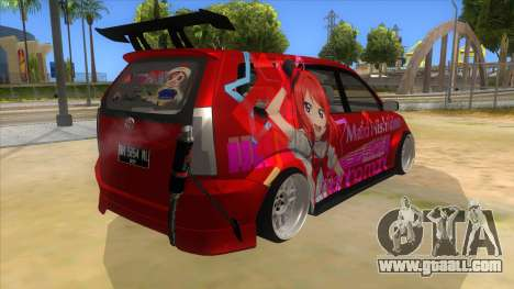 Toyota Avanza R9 Exhaust Nishikino Maki Itasha for GTA San Andreas right view