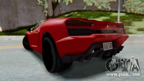 GTA 5 Pegassi Vacca SA Style for GTA San Andreas left view