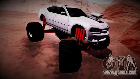2006 Dodge Charger SRT8 Monster Truck for GTA San Andreas bottom view
