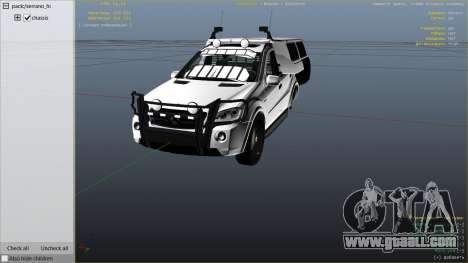 GTA 5 2009 Mercedes-Benz ML63 AMG FBI right side view
