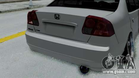 Honda Civic 2002 Model Vtec1 for GTA San Andreas back view