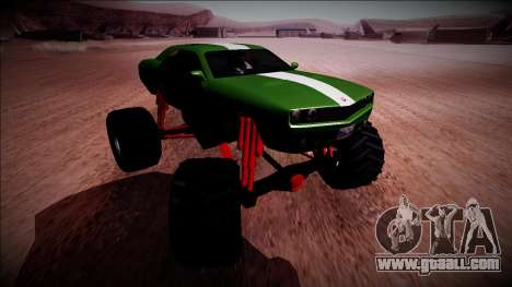 GTA 5 Bravado Gauntlet Monster Truck for GTA San Andreas inner view