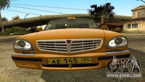 GAZ 31105 Volga Taxi IVF for GTA San Andreas upper view