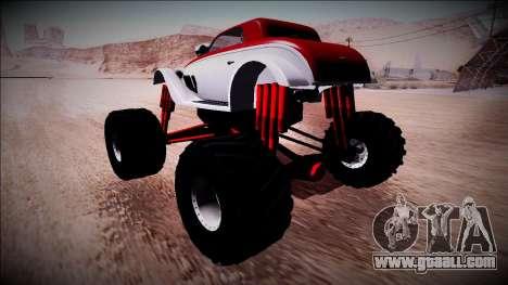 GTA 5 Hotknife Monster Truck for GTA San Andreas back left view