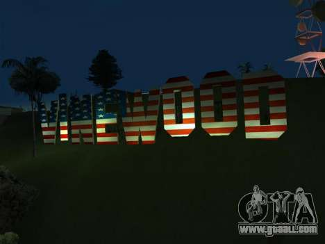 New Vinewood colors USA flag for GTA San Andreas second screenshot