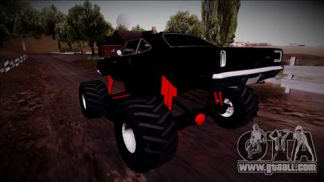 1969 Plymouth Road Runner Monster Truck for GTA San Andreas side view