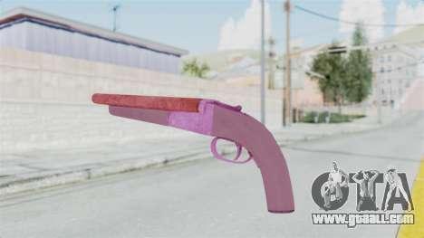Double Barrel Shotgun Pink Tint (Lowriders CC) for GTA San Andreas third screenshot