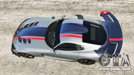 Dodge Viper SRT ACR 2016 for GTA 5