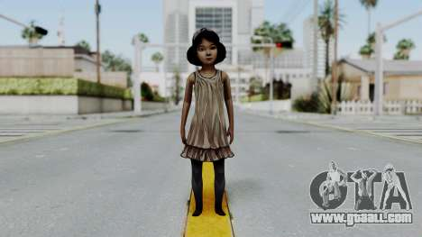Clementine from The Walking Dead for GTA San Andreas second screenshot