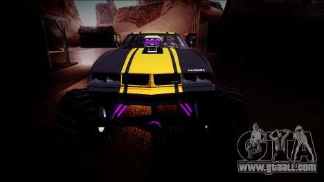 GTA 5 Imponte Phoenix Monster Truck for GTA San Andreas upper view