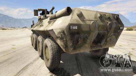 GTA 5 BTR-90 Rostok rear left side view