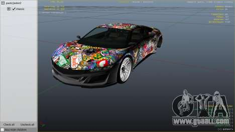GTA 5 Stickerbomb Jester right side view