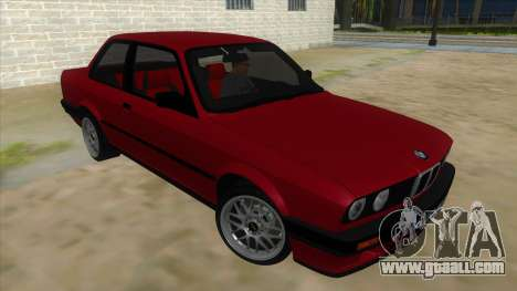 BMW M3 E30 1991 for GTA San Andreas back view