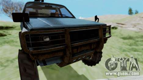GTA 5 Karin Technical Machinegun IVF for GTA San Andreas back view