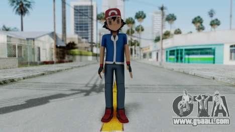 Pokémon XY Series - Ash for GTA San Andreas second screenshot
