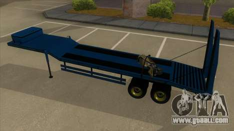 Trailer with Hydaulic Ramps for GTA San Andreas