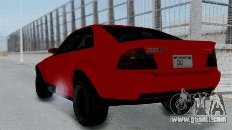 GTA 5 Karin Sultan RS Stock PJ for GTA San Andreas left view