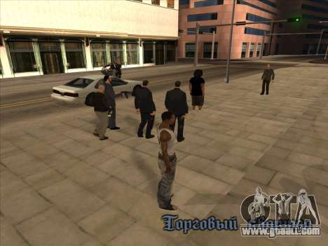 Russians in the Shopping district for GTA San Andreas second screenshot