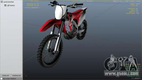 GTA 5 2009 Honda CRF450R right side view