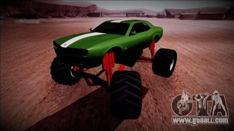 GTA 5 Bravado Gauntlet Monster Truck for GTA San Andreas back view