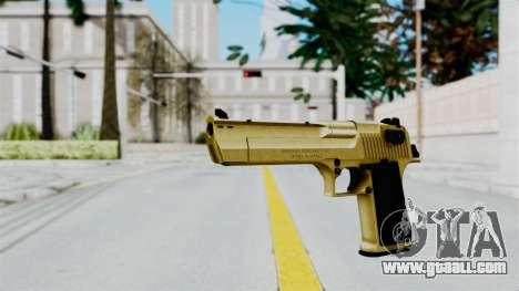 Pouxs Desert Eagle v2 Gold for GTA San Andreas second screenshot