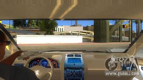 Peugeot 407 for GTA San Andreas inner view