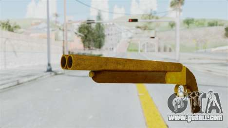 Double Barrel Shotgun Gold Tint (Lowriders CC) for GTA San Andreas