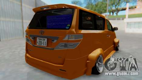 Toyota Vellfire S Class for GTA San Andreas left view
