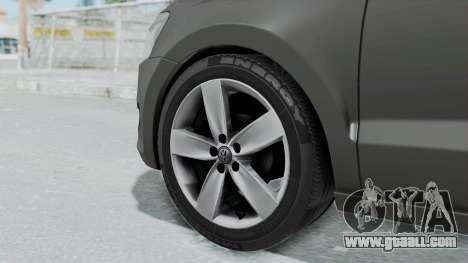 Volkswagen Polo 6R 1.4 HQLM for GTA San Andreas back left view