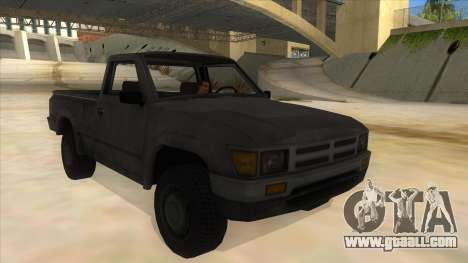 Toyota Hilux Militia for GTA San Andreas back view