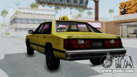 Taxi from GTA Vice City for GTA San Andreas left view