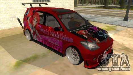 Toyota Avanza R9 Exhaust Nishikino Maki Itasha for GTA San Andreas back view