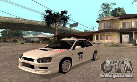 Subaru Impreza WRX STi Tunable for GTA San Andreas side view