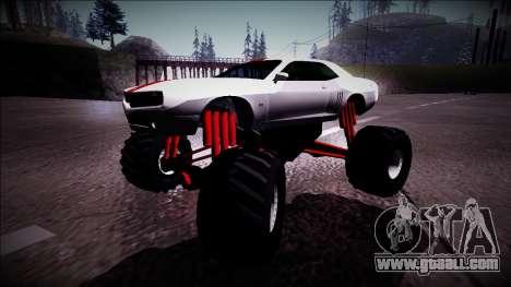 GTA 5 Bravado Gauntlet Monster Truck for GTA San Andreas left view
