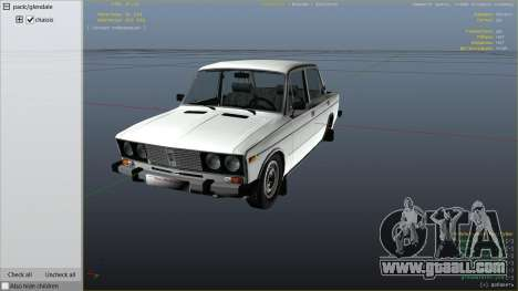 GTA 5 VAZ 2106 right side view