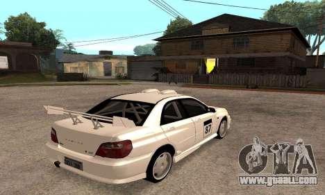 Subaru Impreza WRX STi Tunable for GTA San Andreas upper view