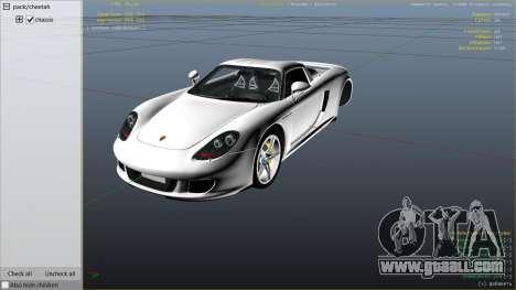 GTA 5 Porsche Carrera GT right side view